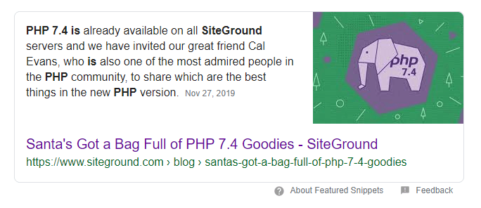 SiteGround uses PHP 7.4